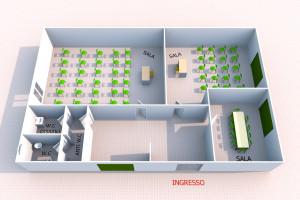 A/811 - Bagheria (PA) in affitto prestigioso ufficio a piano terra tre (3) vani ed accessori
