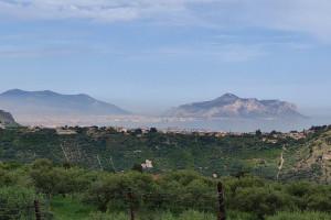 terreno agricolo con panorama integrale sul golfo di Palermo in vendita a Bagheria (PA)