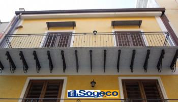 Bagheria (PA) in affitto mansarda in ottimo stato zona centrale un (1) vano con terrazzi