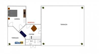 V/101 - Bagheria (PA) in vendita attico un (1) vano servito da due terrazzi e posto auto coperto