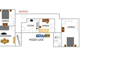 V/405 - Bagheria (PA) in vendita appartamento Corso Butera quattro (4) vani ed accessori