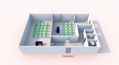 Bagheria (PA) in vendita ufficio al piano seminterrato tre (3) vani ed accessori
