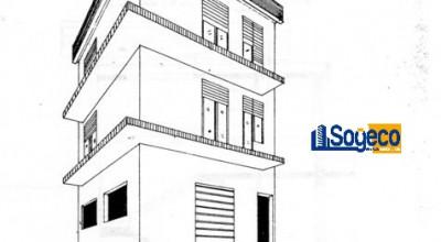Bagheria (PA) via Mazzini in vendita struttura grezza per palazzina indipendente piano terra primo e secondo